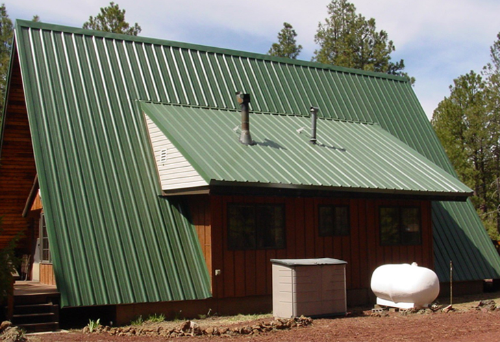 R-Panel Roofing/Siding, Emerald Green