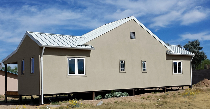 Standing Seam Roofing, Polar White