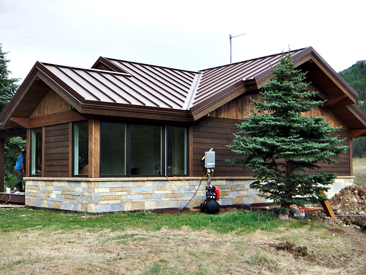 Standing Seam Roofing, Weathered Rustic®
