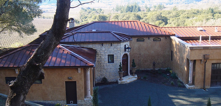 Standing Seam Roofing, Copper Penny