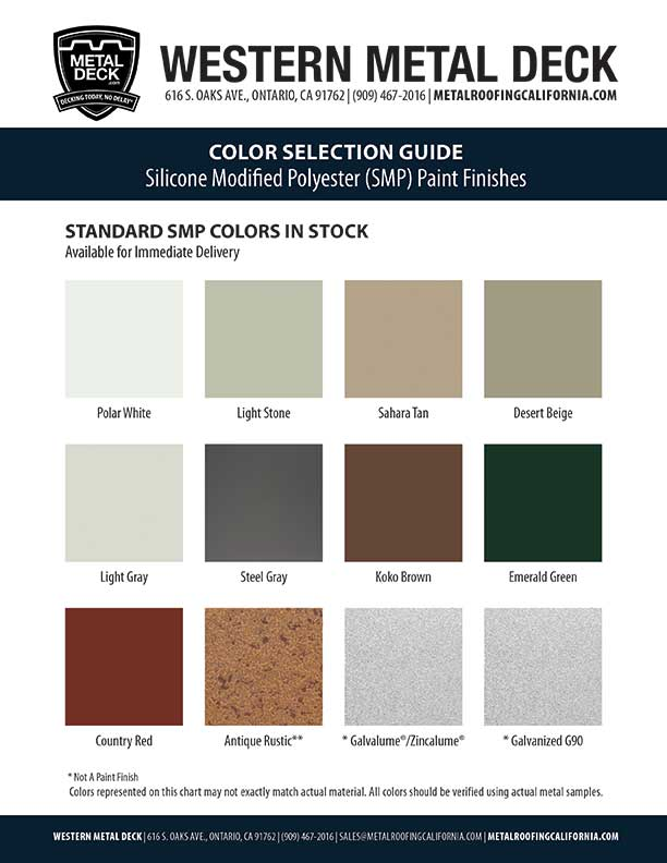SMP Color Card