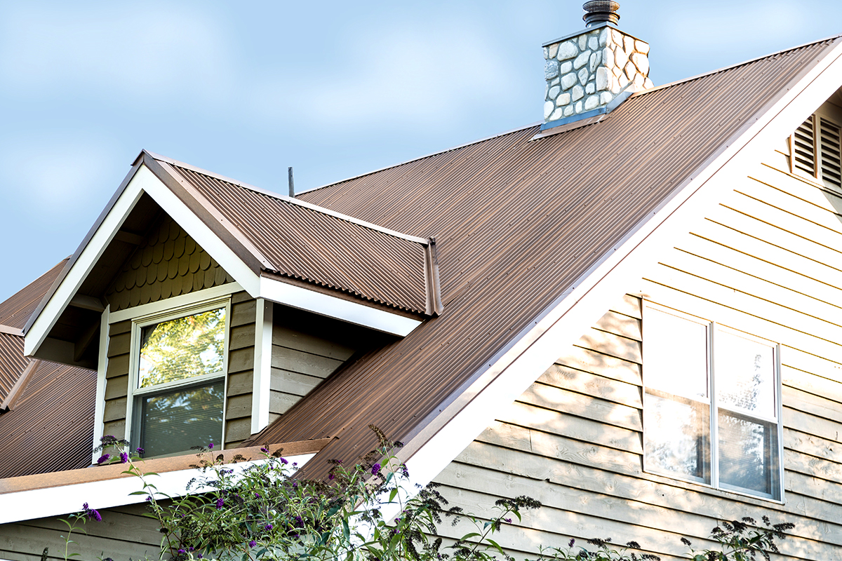 "7/8"" Corrugated Roofing, Streaked Rust®"